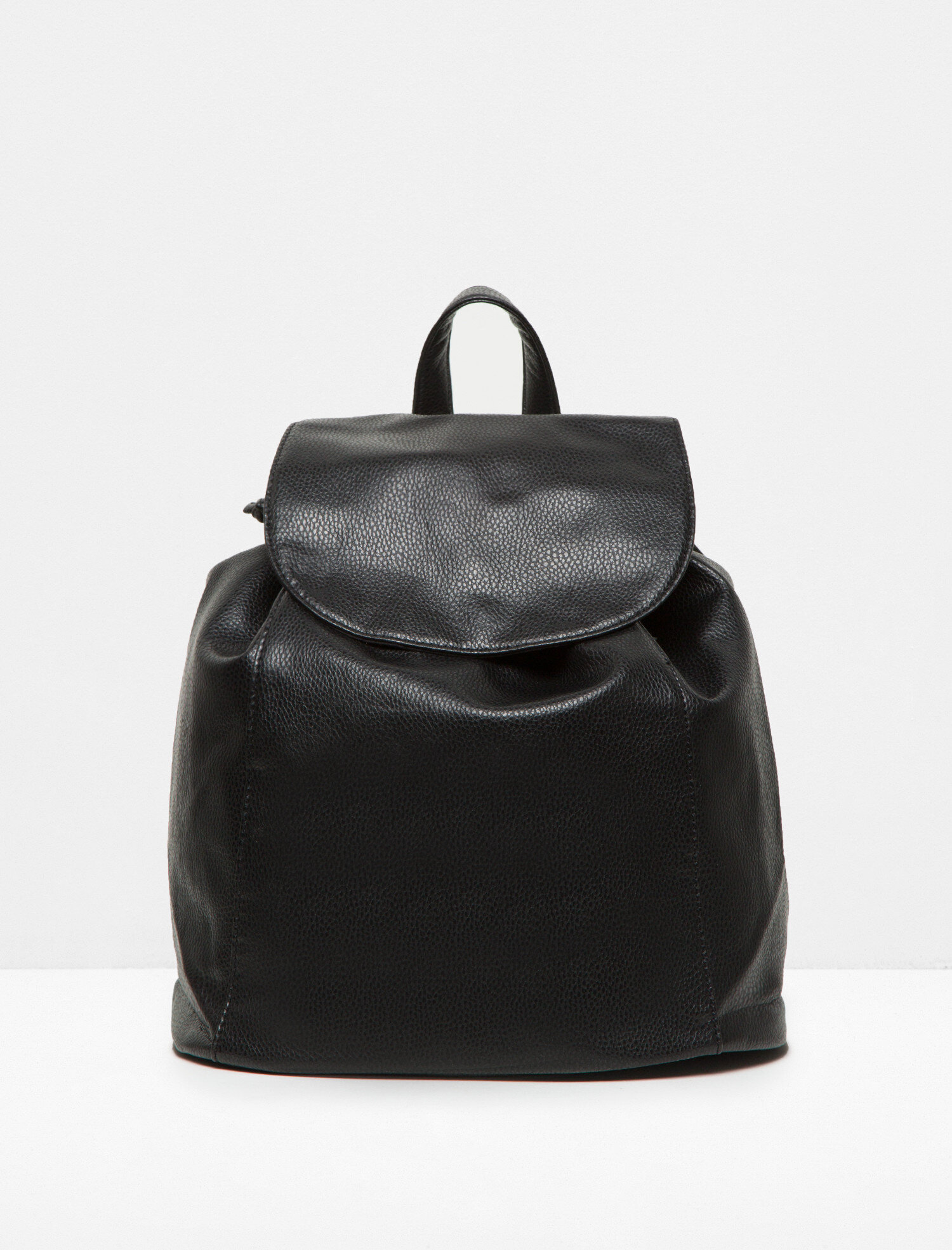 Black Women Leather Look Backpack 6KAK30040AA999M | Koton