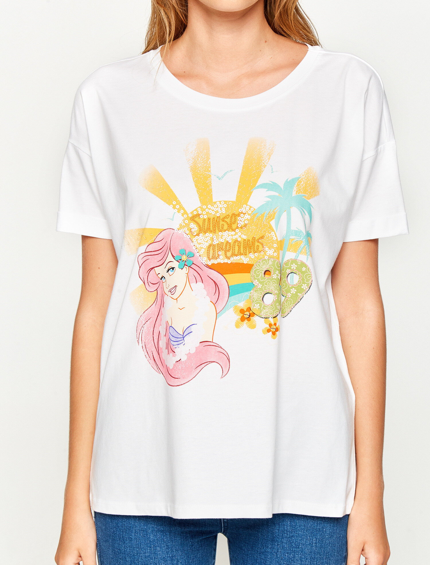 the little mermaid printed t-shirt. pic 1; pic 2; pic 3 ...
