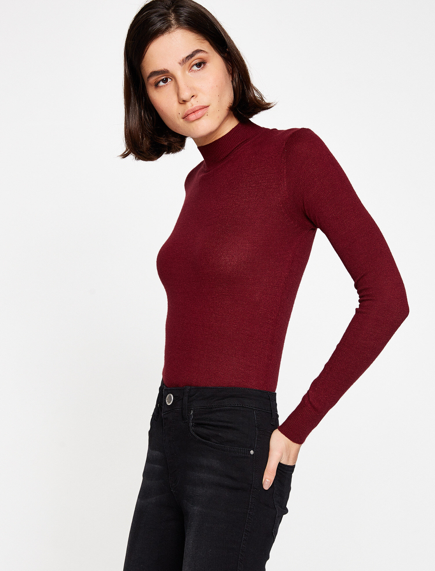 high neck sweater. pic 1; pic 2 ...