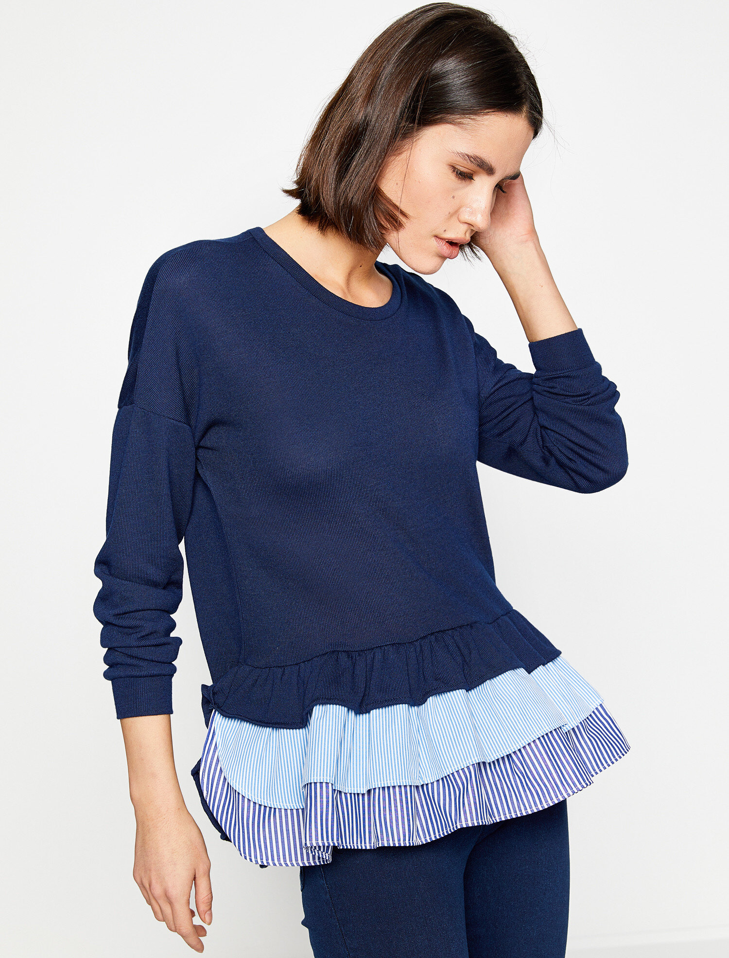 frilled jumper. pic 1; pic 2 ...
